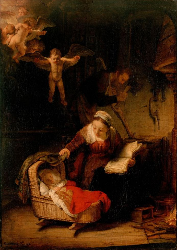 Rembrandt Harmensz van Rijn: The Holy Family. Fine Art Print/Poster. Sizes: A4/A3/A2/A1 (00554)